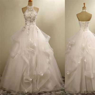 Romantic wedding dress,Ball Gown We..