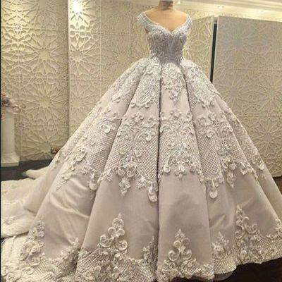 Gorgeous Wedding Ball Gown Prom Dre..