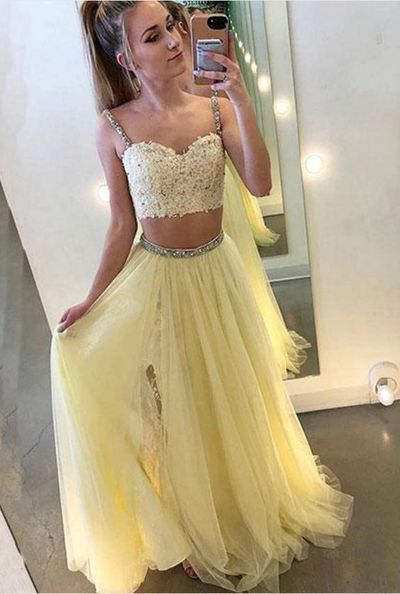 Pale Yellow Formal Dress