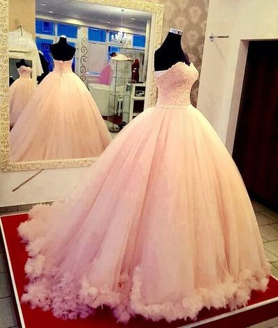 6d7a99b098ebd New Arrival Ball Gown Blush pink Prom Dresses,Floor-Length Prom Dresses ,Sweet