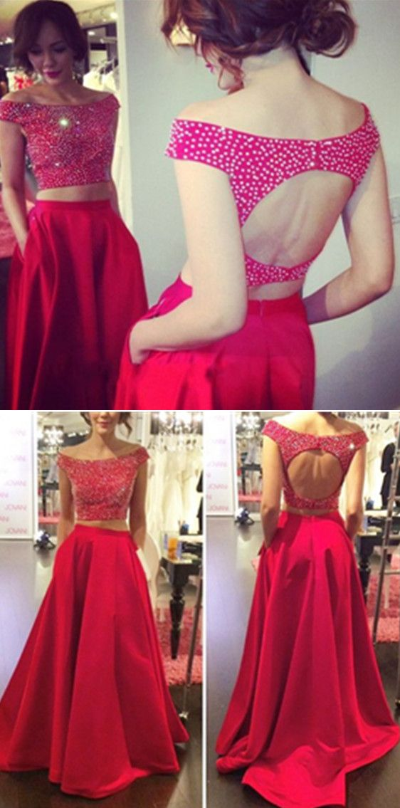 New Arrival Women Dress,2 pieces Prom Dresses, 2 piece Prom Dress, modest Prom Dresses