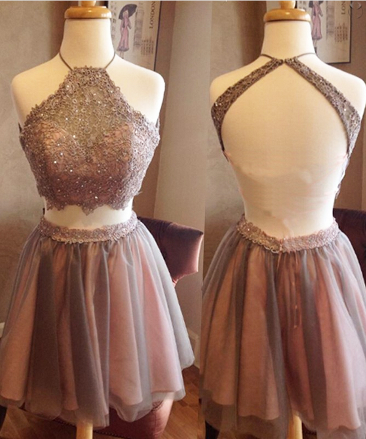Brown Short Prom Dresses