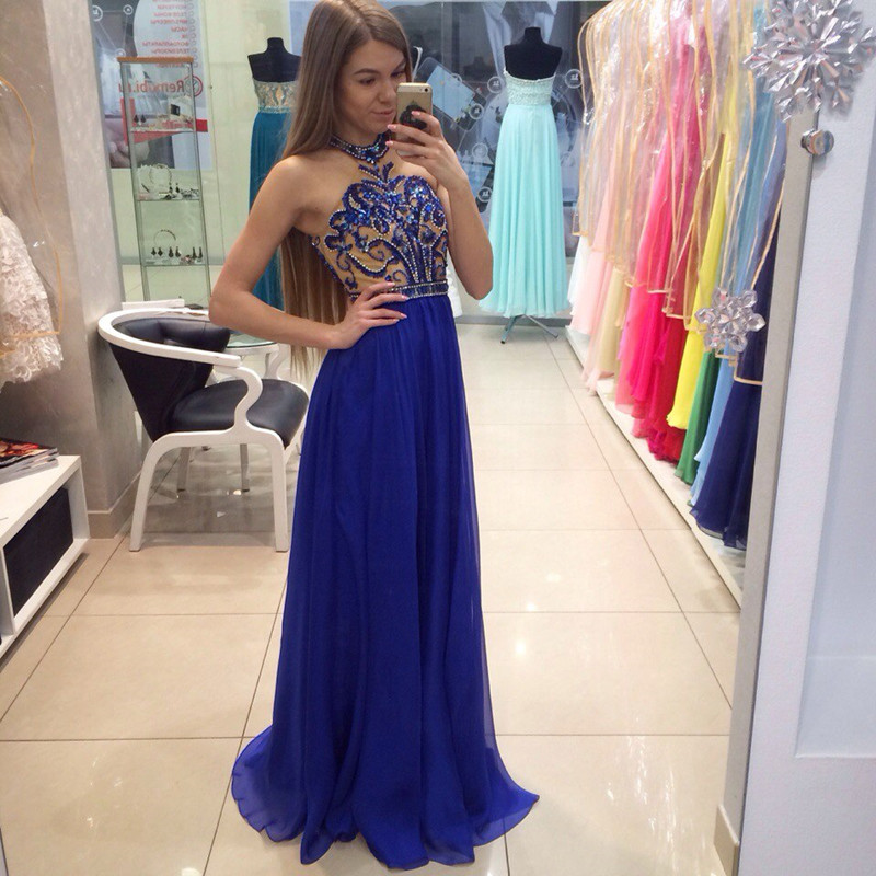 Royal blue prom dress style