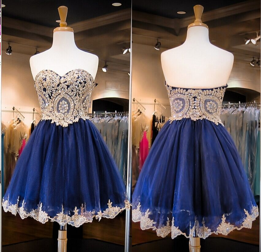 Navy Blue Homecoming Dress  71372a655