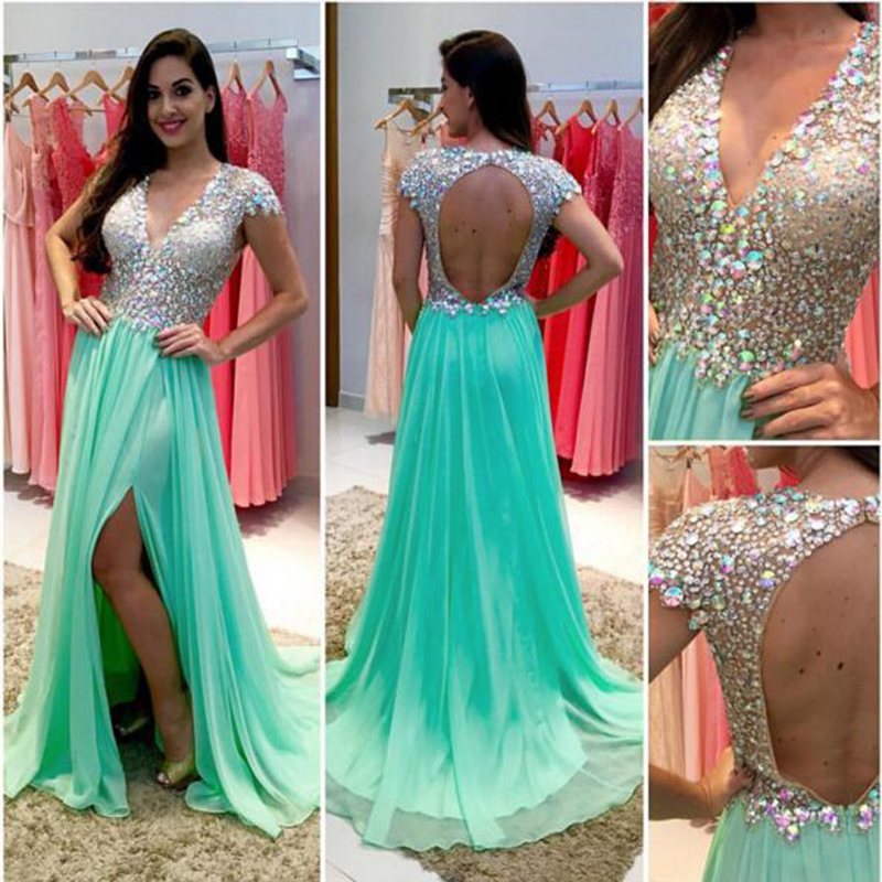 Sexy Evening Dress Teal