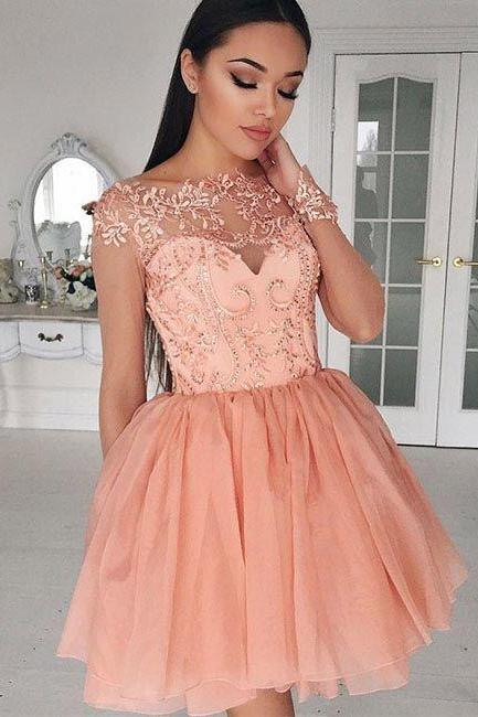 blush pink homecoming dress,homecoming dress,cheap homecoming dress,homecoming dresses