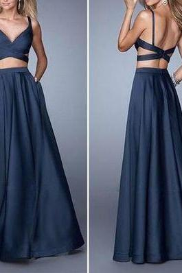 long Bridesmaid Dress,Sexy v-neck homecoming Dress,floor length evening gowns,sexy ball gowns, custom made prom,new fashion