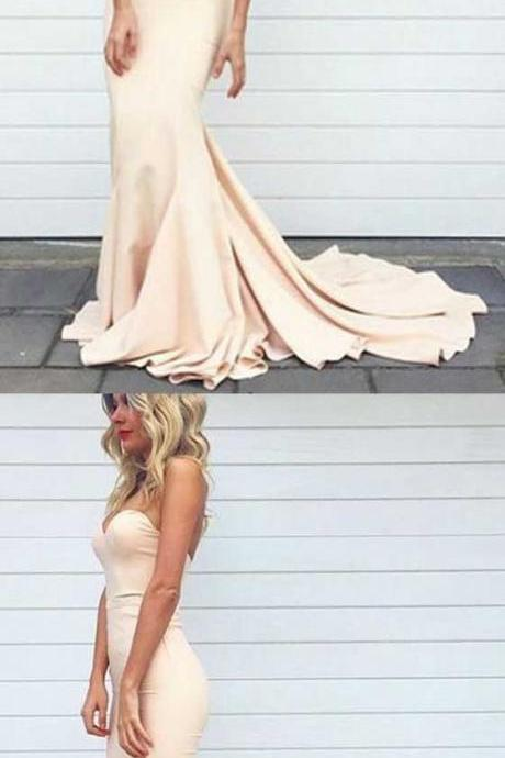 Champagne Prom Dress,Homecoming Dress Long, Back to Schoold Party Gown