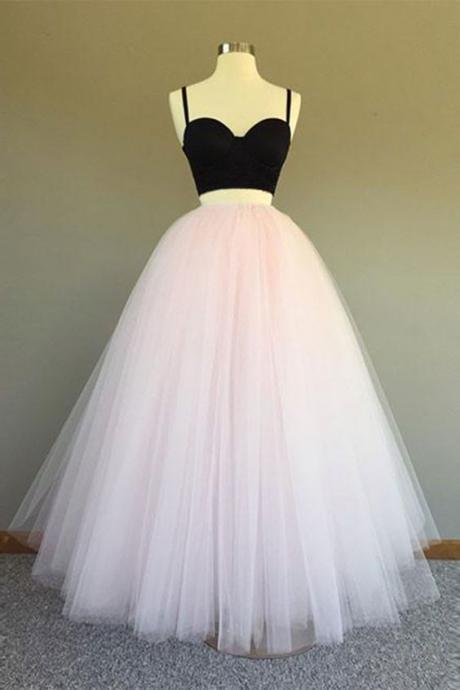 Charming Prom Dress, Sleeveless Tulle Prom Dress,Long Evening Dress