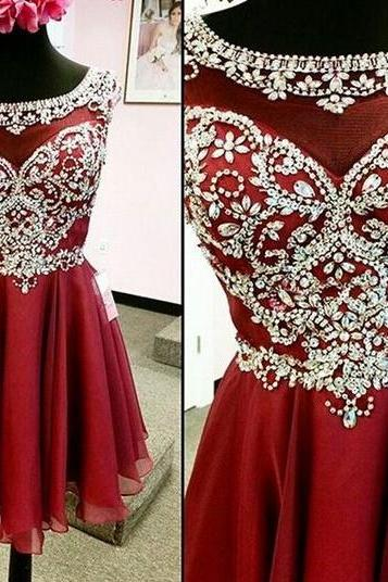 Homecoming Dresses,Red Pretty Short Prom Dresses,Party Dresses,Sparkly Homecoming Dresses,Charming Homecoming Dresses For Teens