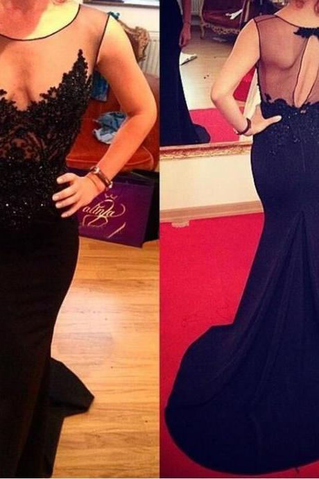 Black Prom Dress Sexy Prom Dress, Mermaid Prom Dress, Evening Dresses, Affordable Prom Dress, Backless Prom Dress