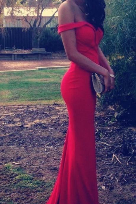 Prom Dresses,Prom Dresses,Red Mermaid Prom Dresses,Off the Should Prom Dresses,Sexy Red Prom Gowns,Sweetheart Chiffon Prom Dress,Red Evening Dress,Formal Dress