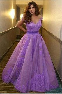 New Arrival Prom Dress,Evening Dress Prom Gowns, Formal Women Dresses,Lilac Party Dress, Lace Prom Dresses,Long Prom Dresses