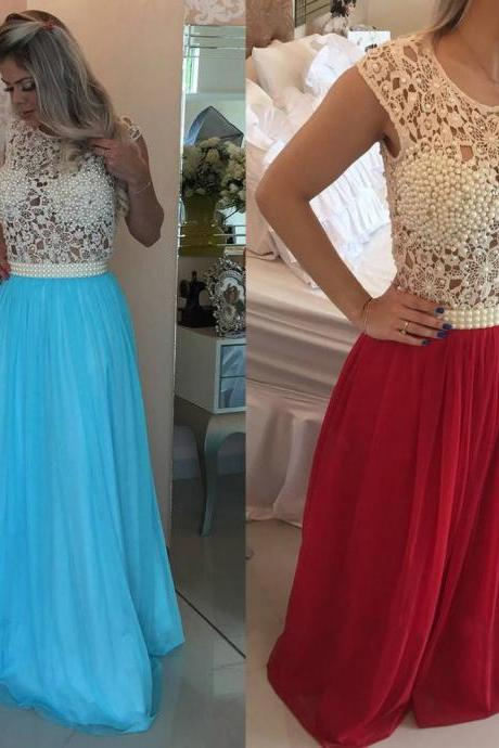 New Arrival Prom Dress Evening Dress Prom Gowns, Formal Women Dresses,blue Party Dress, lace Evening Dresses,Long Prom Dresses