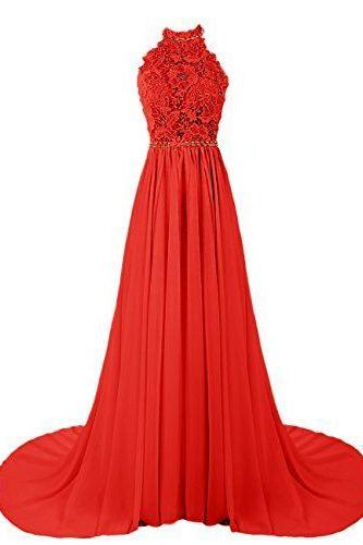 new style Evening Dress,red Evening Dresses,Formal Gown,modest Prom Dress,Chiffon Prom Dress