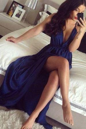 Prom Dress,Royal Blue Evening Dress,2017 Prom Gown,Royal Blue Party Dress,Long Prom Dress,Blue evening gowns
