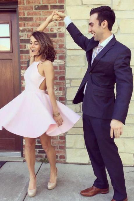 Homecoming Dresses,Pink Prom Dresses,Satin Homecoming Dresses,Short Homecoming Dress,Pretty Party Dresses,Cute Dresses