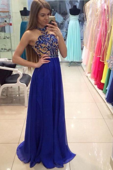 Long Dress prom dresses,evening gowns,2017 prom gowns,royal blue prom gowns,new style fashion prom gowns