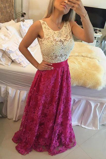 Evening Dress,Long Evening Dresses,Formal Dress,Pink Formal Gown,Women Dress,Princess Prom Gowns,Lace prom gown
