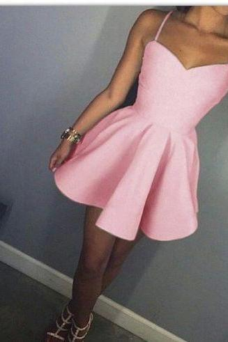 Homecoming Dresses, Charming Prom Dress,Lovely Cute Prom Dress,Sexy Prom Gown,homecoming gown,Pink prom gowns