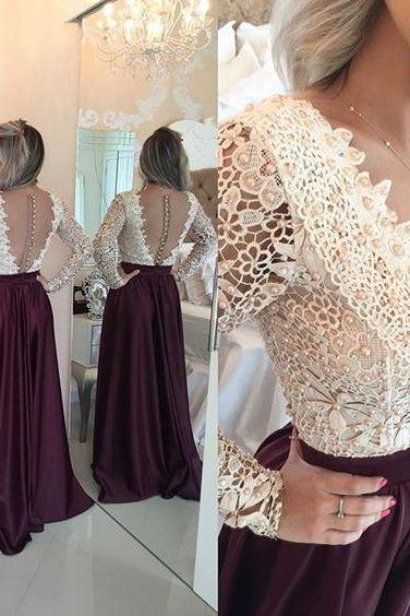 Burgundy Long Prom Dresses,Prom Gowns,Sexy Burgundy Prom Women Dress,Evening Dress,Prom Party Dress