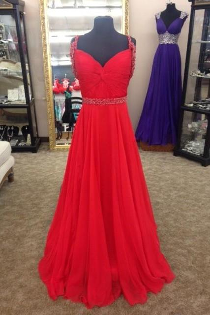 Sexy Prom Dress,Prom Dresses,Red A line Prom Dress,Beading Red Evening Dress,Long Evening Dress,Red Graduation Dress,Formal Women Dress