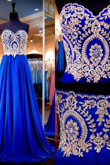 Long Beaded Bodice prom dresses,evening gowns,royal blue prom gowns,royal blue prom gowns,new style fashion prom gowns