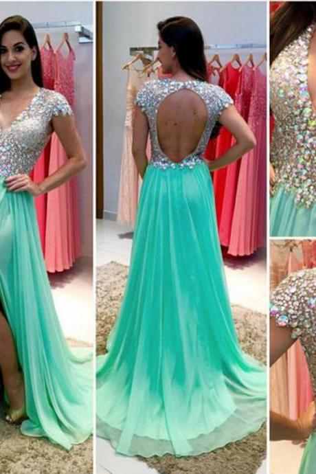 sparkly prom Dresses,sexy prom dress,long evening gowns,sparkle prom dress,backless evening gowns