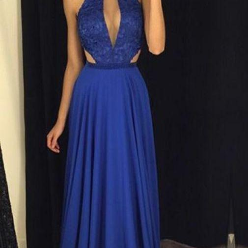 Charming Prom Dress,Sleeveless Evening Dress,Royal Blue Evening Gowns,Formal Dress,evening gowns,sexy ball gowns, custom made prom