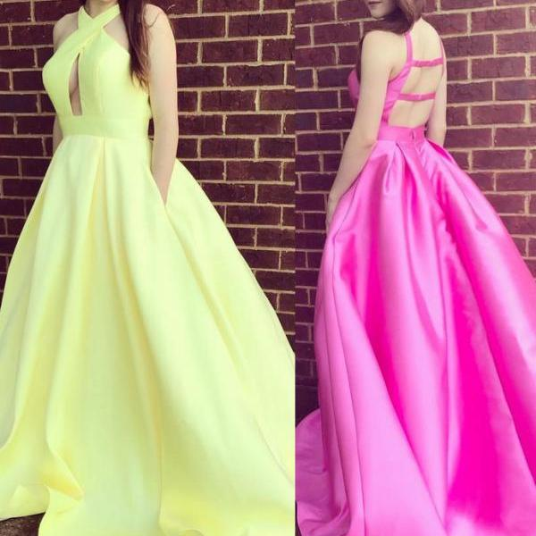 Gorgeous A-line Formal Dress Yellow Party Dress