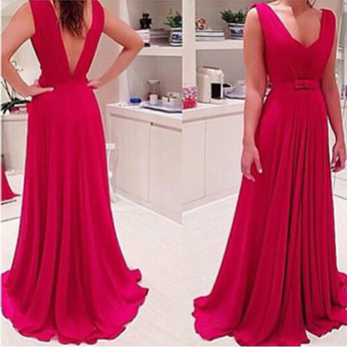 Sexy Prom Dress, Long Prom Dress, Backless Prom Dress, Formal Prom Dress ,Chiffon Prom Dress, Cheap Prom Dress