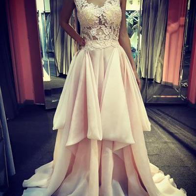 Long Prom Dress,V Neck Sexy Prom Dress,Lace Formal Dress,Evening Gown