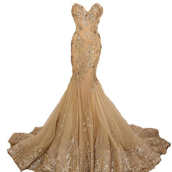 Gold Prom Dress,Lace Prom Dress,Sexy Prom Dress,High Collar Prom Dress,Mermaid Prom Dress,Beaded Prom Dress,Champagne Prom Dress,Fashion Prom Dress,Luxury Prom Dress,Long Prom Dresses,Party Dress