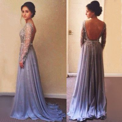 Sexy Prom Dress,Prom Dresses,lace Prom Dress,Chiffon Prom Dresses,Sexy Dress,Charming Prom Dress,Long Sleeves Formal Dress,simple Prom Gown For Teens