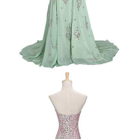Sexy Prom Dress,New Prom Dresses,Prom Dress,Prom Dresses,Charming Prom Dress,Mermaid Formal Dress,Mint Green Prom Gown For Teens