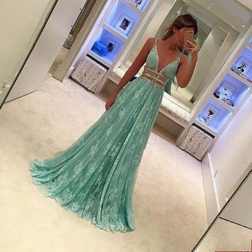 prom dresses,lace evening gowns,mint green prom gowns,evening dress,Tulle party gowns,lace prom gowns